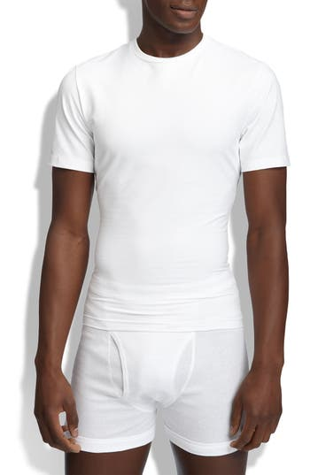SPANX® Crewneck Cotton Compression T-Shirt
