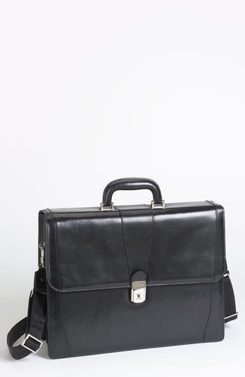 Bosca Double Gusset Briefcase - Black