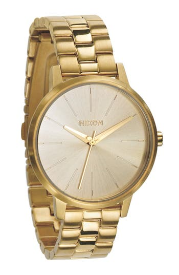 Women's Nixon 'The Kensington' Round Bracelet Watch, 37Mm