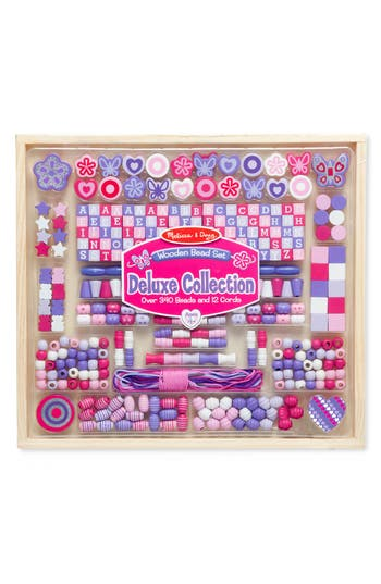 Girls Melissa  Doug Wooden Bead Set