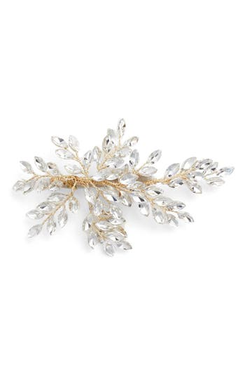 Brides & Hairpins 'Sahara' Crystal Leaf Bendable Hair Clip