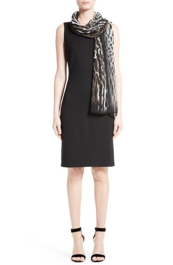 St. John Collection Milano Knit Sheath Dress, Black