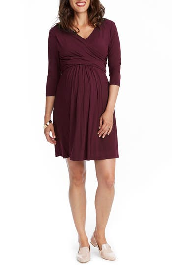 Rosie Pope Maternity/nursing Wrap Dress, Burgundy