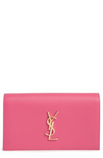 Saint Laurent 'Monogram' Leather Clutch -