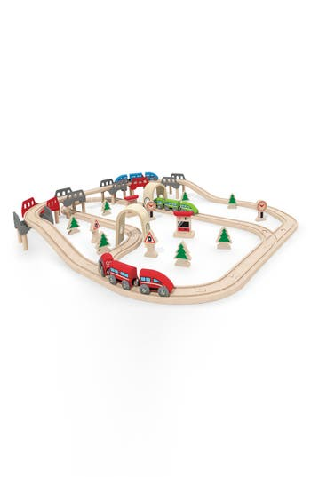 Boys Hape High  Low Railway Set