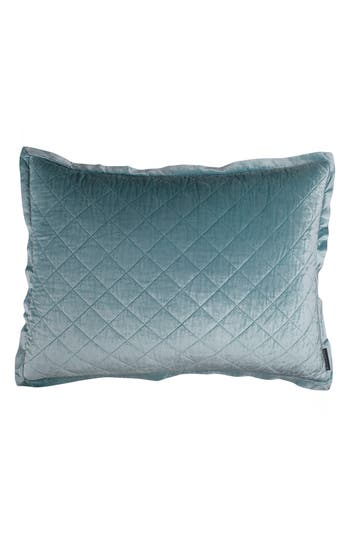 Lili Alessandra Chloe Quilted Sham, Size Standard - Blue/green