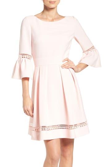Eliza J Bell Sleeve Dress, Pink