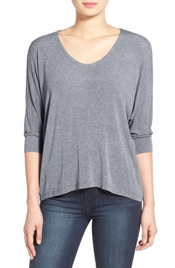 Splendid Dolman Sleeve Top, Grey