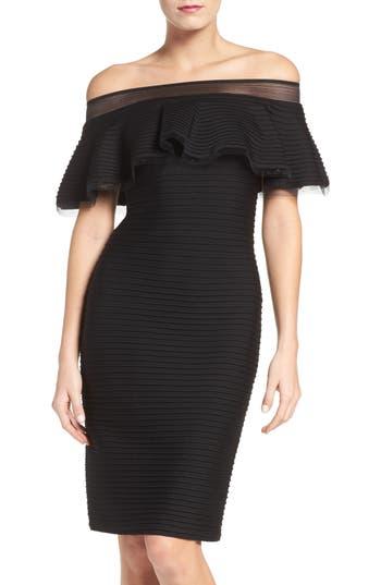 Tadashi Shoji Jersey Sheath Dress, Black