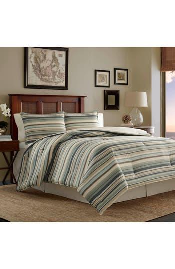 Tommy Bahama Stripe Canvas Comforter, Sham & Bed Skirt Set