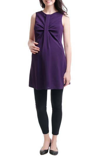 Kimi And Kai Epona Maternity/nursing Shift Dress, Purple