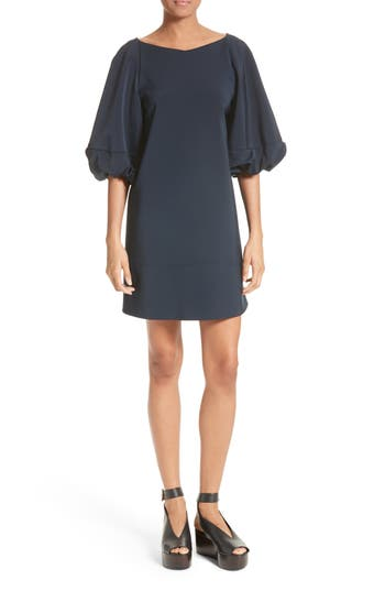 Tibi Statement Sleeve Minidress