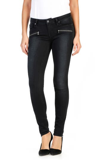 Paige Transcend - Jill Zip Ultra Skinny Jeans