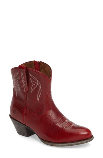 Ariat Darlin Short Western Boot- Red