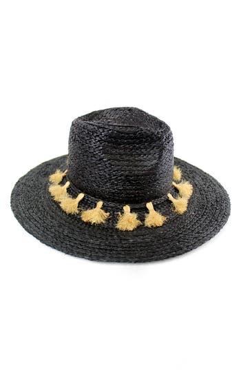 Women's Michael Stars Mystros Tassel Panama Hat -