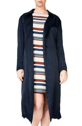 Plus Size Elvi Trench Coat, W US / 16 UK - Blue