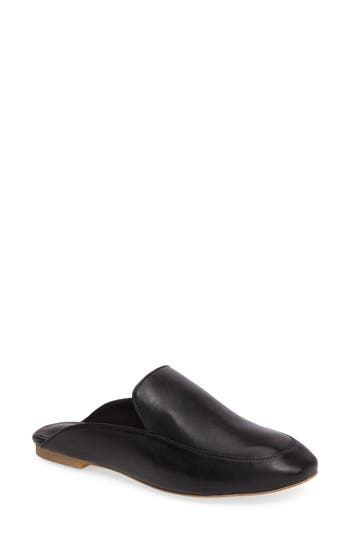 Jeffrey Campbell Worthy Loafer Mule- Black