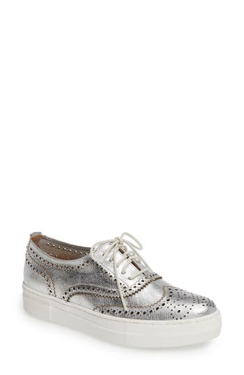 Shellys London Kimmie Perforated Platform Sneaker Metallic