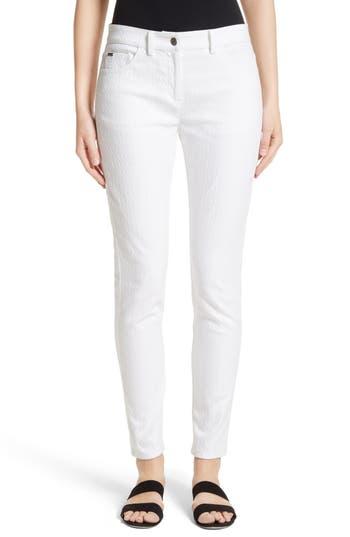 Women's St. John Collection Bardot Diamond Jacquard Denim Jeans