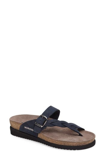 Women's Mephisto 'Helen Twist' Nubuck Leather Sandal