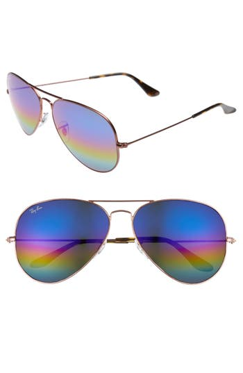 Ray-Ban Large Icons 62Mm Aviator Sunglasses -