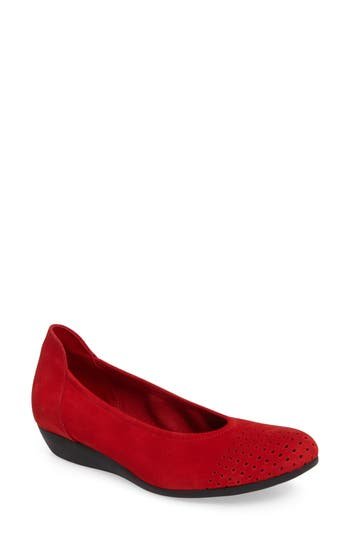 Arche Onara Water Resistant Flat, Red
