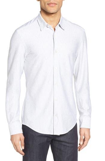 Men's Boss Reid Slim Fit Stripe Jersey Sport Shirt