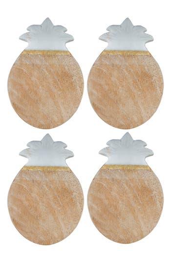 Thirstystone Set Of 4 Pineapple Coasters