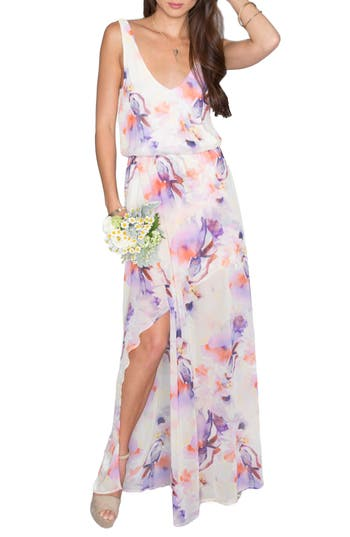 Show Me Your Mumu Kendall Soft V-Back A-Line Gown, None