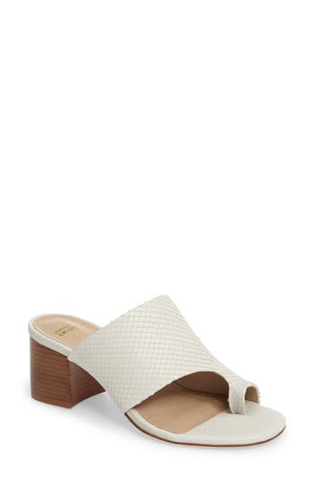 Johnston & Murphy Kelsey Toe Loop Slide Sandal, White