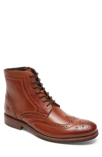 Rockport Wyat Wingtip Boot, Brown