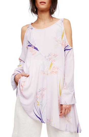 Free People Clear Skies Cold Shoulder Tunic, Purple