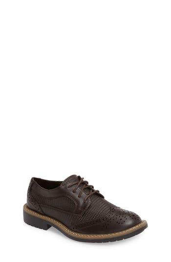 Boys Reaction Kenneth Cole Take Fair Wingtip Oxford Size 5 M  Brown