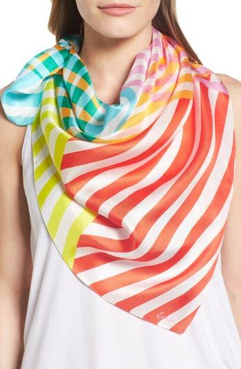Women's Echo Cambon Stripe Silk Square Scarf