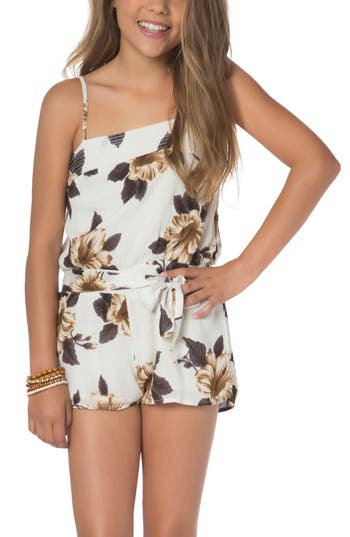 Girl's O'Neill Floral Romper