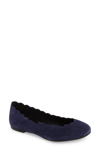 B?rn Allie Scalloped Ballet Flat- Blue