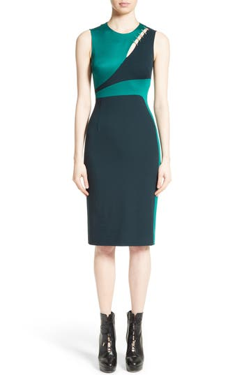 Versace Collection Staple Detail Cutout Dress