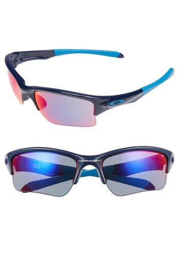 Oakley Quarter Jacket Prizm(TM) 61Mm Semi-Rimless Sunglasses - Navy/ Red Iridium