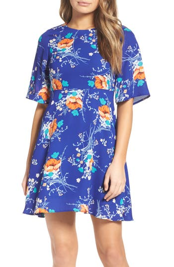Charles Henry Fit & Flare Dress