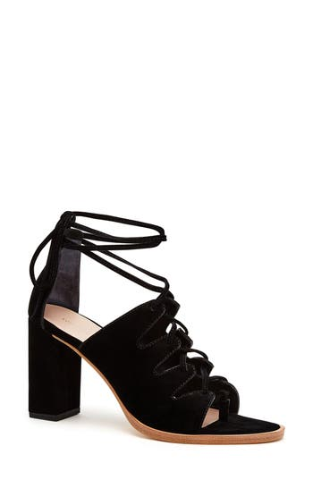 Loeffler Randall Helene Lace-Up Sandal, Black
