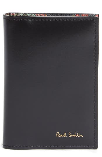 Paul Smith Horniman Print Leather Wallet - Black