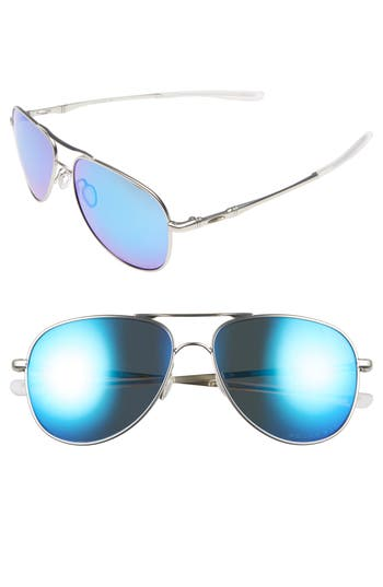 Oakley Elmont 5m Polarized Aviator Sunglasses - Chrome/ Sapphire Iridium P