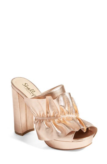 Shellys London Delphine Platform Mule Metallic