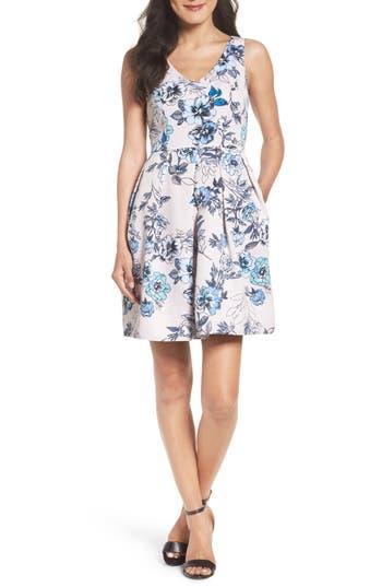 Taylor Dresses Fit & Flare Dress, Blue