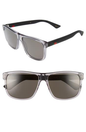Men's Gucci 58Mm Polarized Sunglasses -
