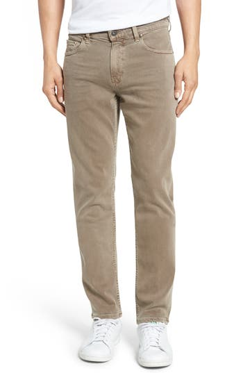 Big & Tall Paige Transcend - Federal Slim Straight Leg Jeans, Brown