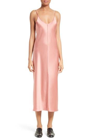 T By Alexander Wang Silk Slipdress, Pink