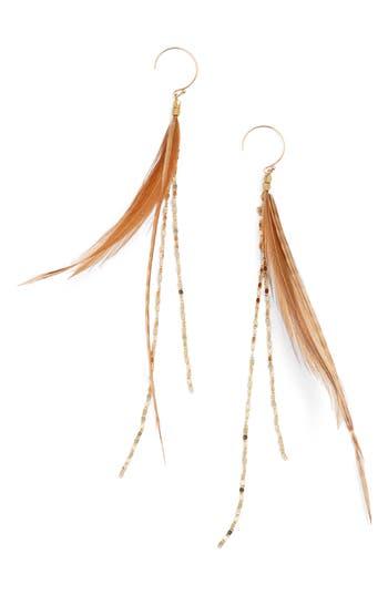Women's Serefina Glistening Feather Drop Earrings