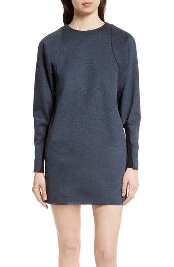 Tibi Dolman Sleeve Minidress, Blue