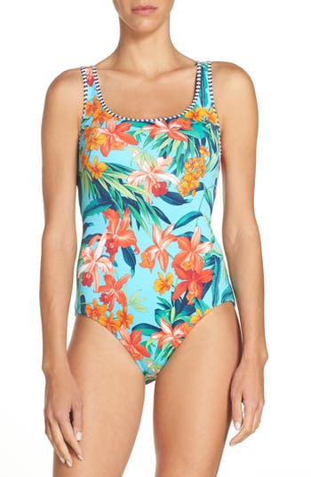 Tommy Bahama Floriana Reversible One-Piece Swimsuit
